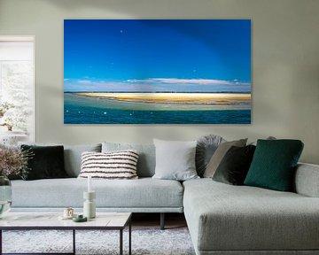 Sandbank vor der Küste von Rügen, Deutschland von Rietje Bulthuis