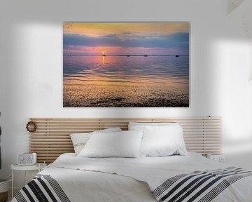 Sonnenuntergang in Rügen in der Ostsee, Deutschland von Rietje Bulthuis