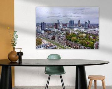 Rotterdam Skyline van Marcel Moonen @ MMC Artworks
