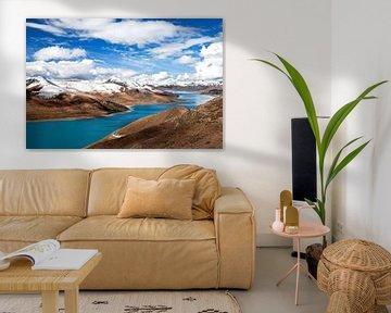 Yamdrok-See in Tibet von Jan van Reij