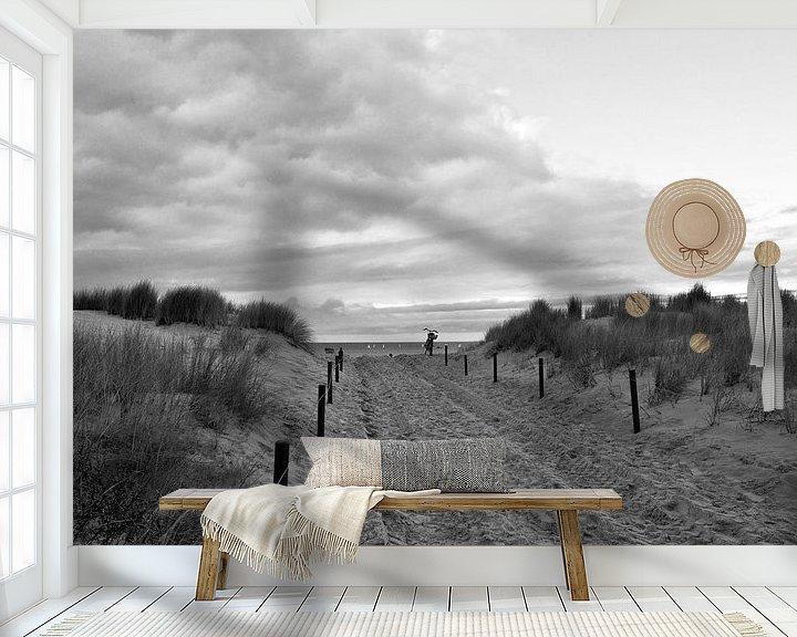 Beispiel fototapete: Sanddüne an der Ostsee in Warnemünde von Silva Wischeropp