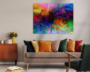 Modernes, abstraktes Digital Artwork - Ich hatte einen Traum in der anderen Nacht. von Art By Dominic