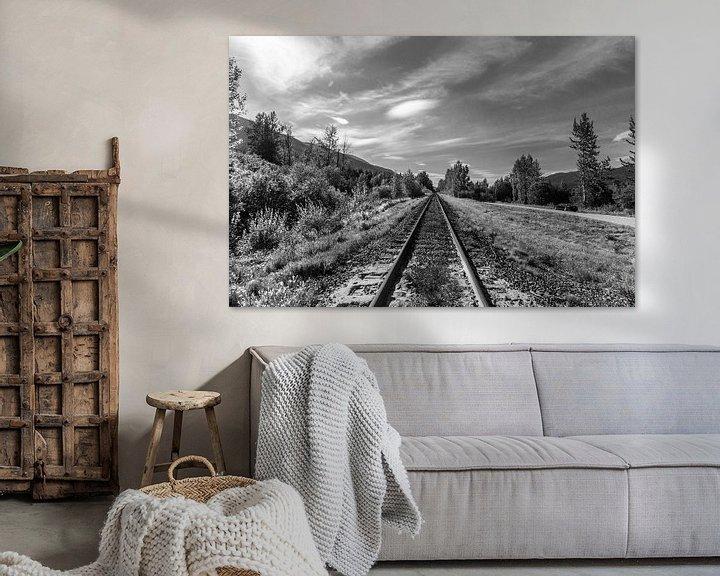 Sfeerimpressie: Spoorlijn door de Rockie Mountains van Canada van Bart Veeken