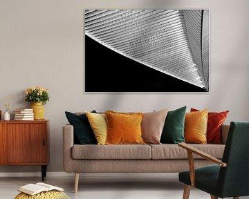 Dak in zwart wit van Wim Mourits