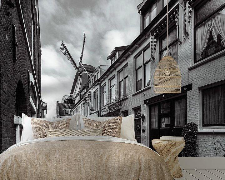Sfeerimpressie behang: De Adriaan vanuit Papentorenvest van Bart Veeken