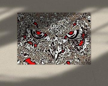 Owl's face #1 van Leopold Brix
