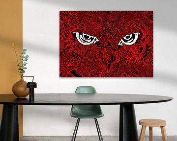 Owl's face #5 van Leopold Brix