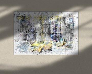 Modern Art NEW YORK CITY Collage von Melanie Viola