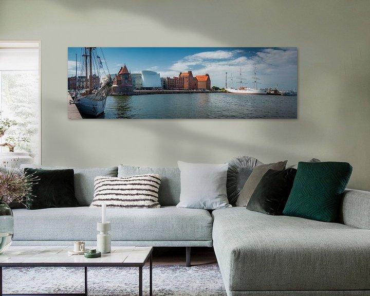 Beispiel: Panorama von Stralsund, Deutschland von Rietje Bulthuis
