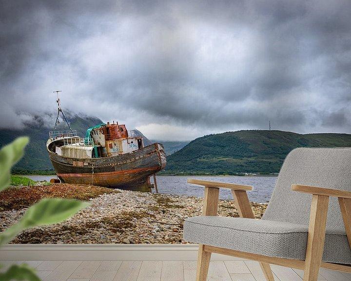 Beispiel fototapete: Verlassenes Schiff in Fort William, Schottland von Pascal Raymond Dorland