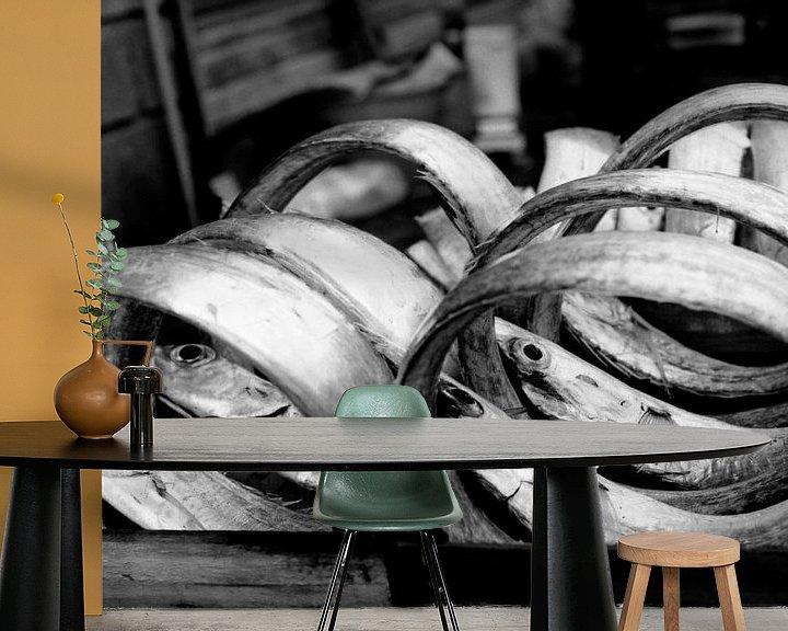 Sfeerimpressie behang: Vismarkt Catania van Liesbeth Govers voor omdewest.com