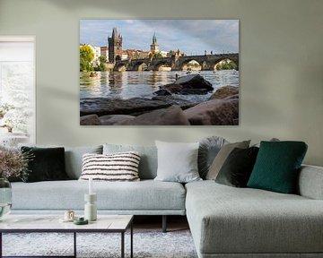 Praag - de Karelsbrug over de Moldau von Jack Koning