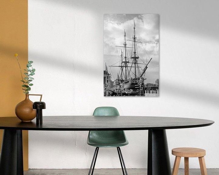 Sfeerimpressie: VOC-schip Amsterdam van Jan van der Knaap