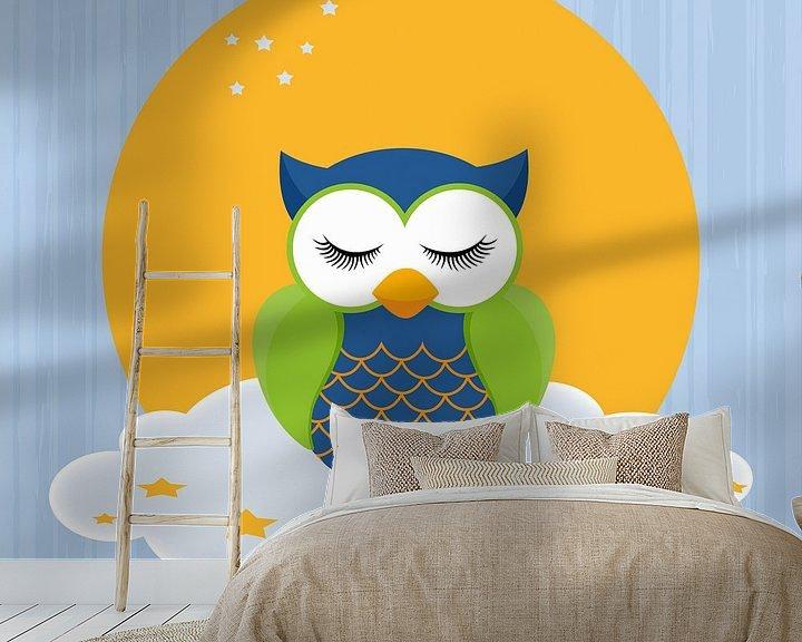 Beispiel fototapete: Schlaf Eule von Marion Tenbergen