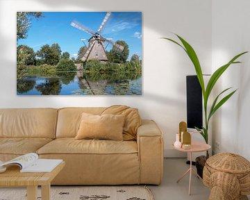 Molen de 1100 Roe met draaiende wieken van Foto Amsterdam / Peter Bartelings