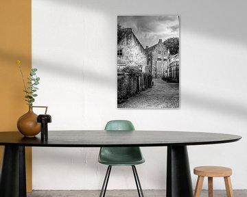 Muurhuizen historisch Amersfoort zwart-wit von Watze D. de Haan