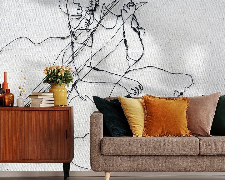 Sfeerimpressie behang: Klein van Kim Rijntjes