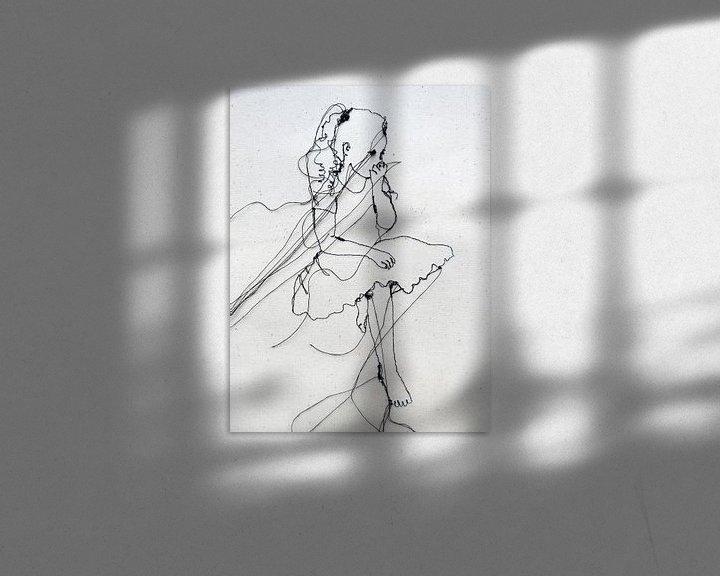 Beispiel: Klein - Mädchen aus Nadel & Draht von Kim Rijntjes