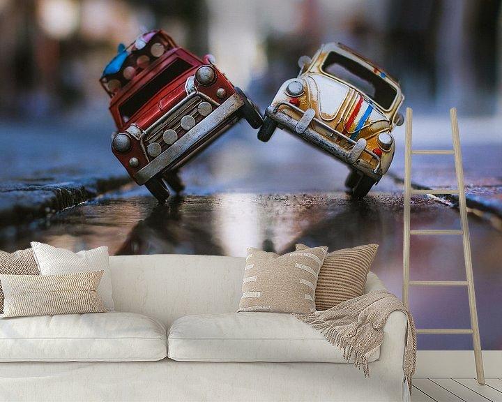 Sfeerimpressie behang: Herbie and Surfing Wheels going crazy @ the city van Leo leclerc