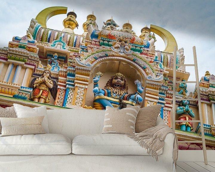 Sfeerimpressie behang: Indiase tempel van Jan Schuler