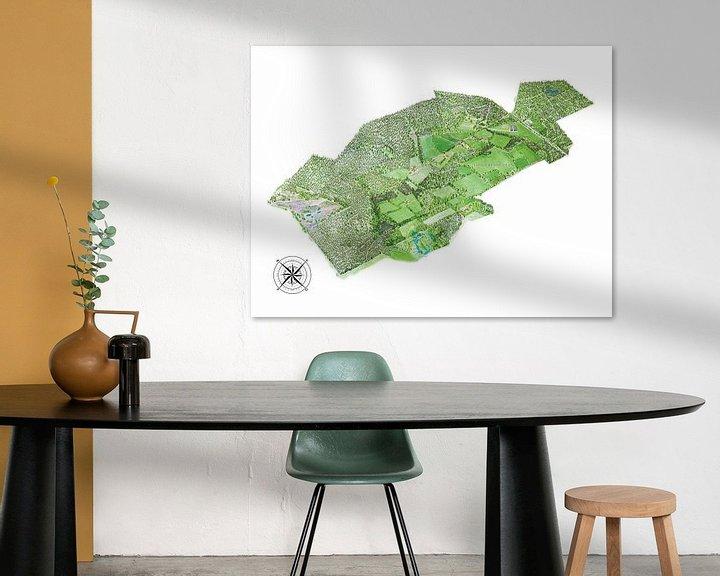 Sfeerimpressie: Landkaart van Tongeren - Versie 2 van Wereldkaarten.Shop