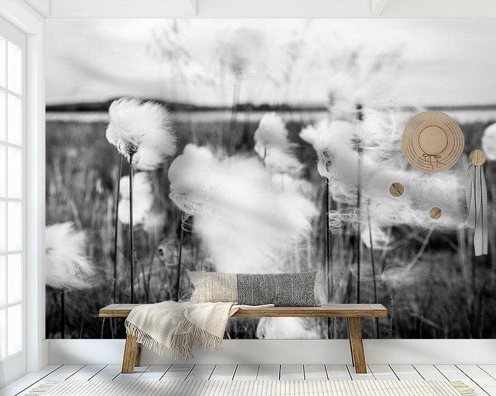 Sfeerimpressie behang: Dansen in de wind - veenpluis van Ellis Peeters