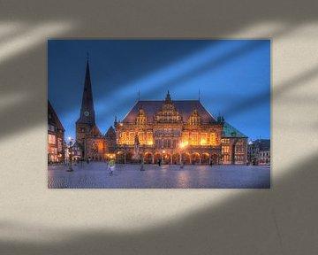 Town Hall at  Dusk, Bremen