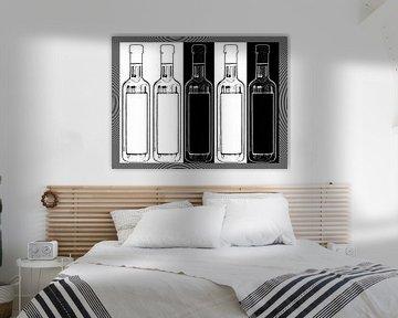 Glass bottles van Leopold Brix