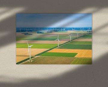 Luchtfotografie van een Nederlands landschap von Original Mostert Photography