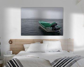 Motorboot in de regen van Mr Greybeard