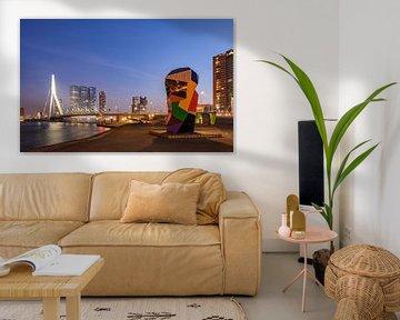 Rotterdam Skyline, Erasmus-Brücke von Lorena Cirstea