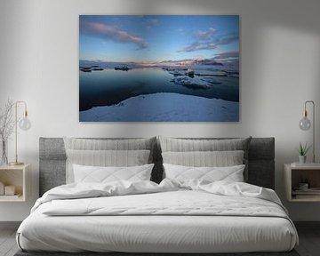 Gletsjermeer in IJsland van Koen van der Werf