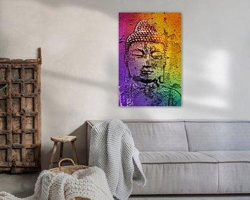 Boeddha op een muur