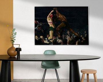 Schilderij over boksen: Both Members of This Club