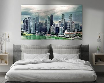 Skyline Singapore van Eduard Lamping
