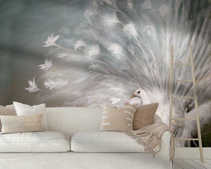 Beispiel fototapete: witte pauw ( white peacock) von Els Fonteine