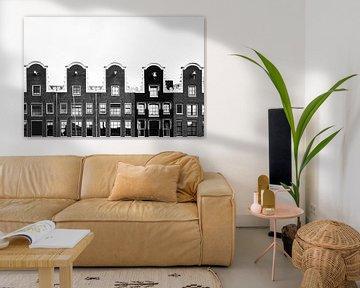 Grachtenpanden in Amsterdam van Robert Paul Jansen