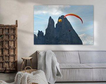 paragliding seiser alm dolomieten