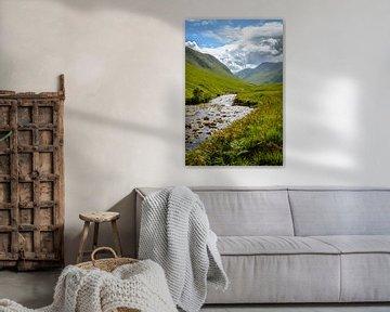 Etive rivier, Glen Etive, Schotland