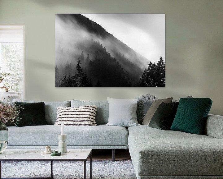 Sfeerimpressie: Regen in de Alpen van Hidde Hageman