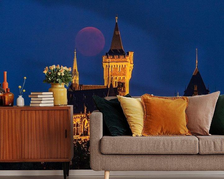 Beispiel fototapete: Blutmond und Schloss Wernigerode von Oliver Henze