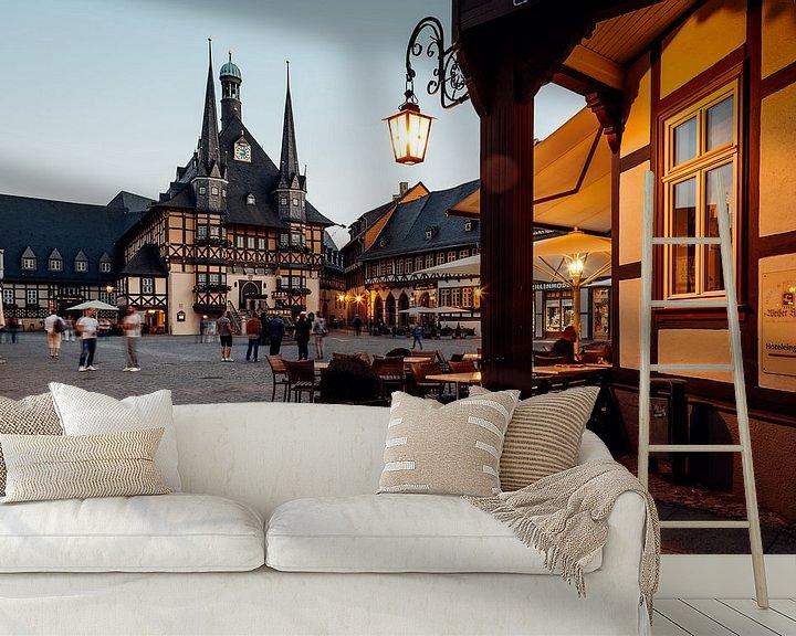 Beispiel fototapete: Rathaus Wernigerode von Oliver Henze