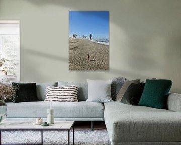 Op het strand op Sylt van Norbert Sülzner