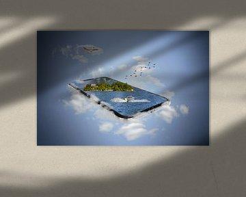 Isola Madre/Italy - smartphone manipulation van Ursula Di Chito
