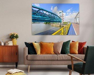 Buntes Bild der Algera-Brücke und des Sturmflutwehrs von Ruud Morijn