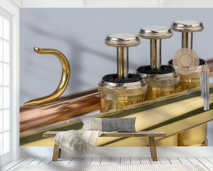 Impression: Muziekinstrument trompet in detail sur Tonko Oosterink