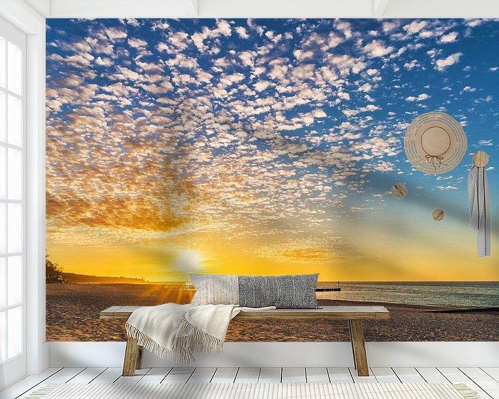 Beispiel fototapete: Sonnenuntergang am Strand von Gunter Kirsch