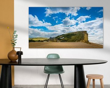 Cliff, die Landschaft von Broadchurch, Großbritannien von Rietje Bulthuis