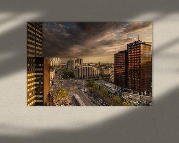 Golden hour in Rotterdam