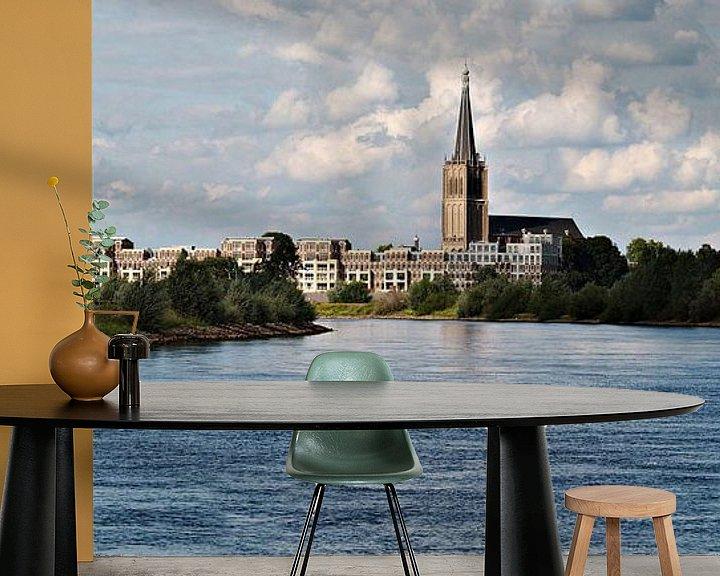 Sfeerimpressie behang: Doesburg vanaf de IJssel van M  van den Hoven